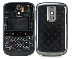 housing faceplate cover matte frame metal star blackberry bold 9000