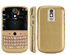 housing faceplate cover matte frame gold silver leather blackberry bold 9000