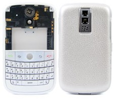 housing faceplate cover pearl silver blackberry bold 9000