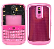 housing faceplate cover pink metal blackberry bold 9000