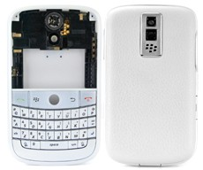 housing faceplate cover silver blackberry bold 9000