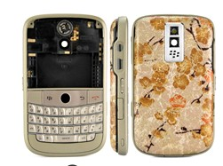 housing faceplate cover gold blackberry bold 9000