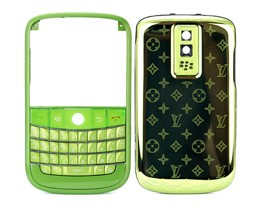 green metal star blackberry bold 9000 housing cover keypad