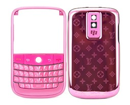housing cover keypad pink metal star blackberry bold 9000