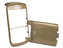housing faceplate cover metalic gold blackberry javelin curve 8900