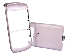 housing faceplate cover metalic light pink blackberry javelin curve 8900