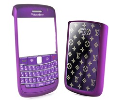 matte housing faceplate cover keypad metal star battery purple blackberry bold
