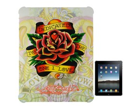 textured love flower ed tattoo hard case cover ipad