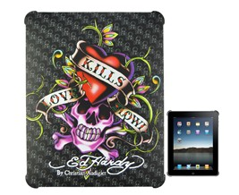 textured love kills ed tattoo hard case cover ipad