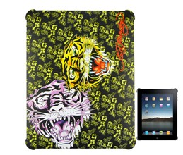 textured tiger head ed tattoo hard case cover ipad