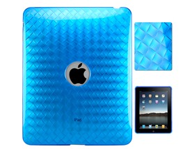 weave silicone skin case cover ipad blue