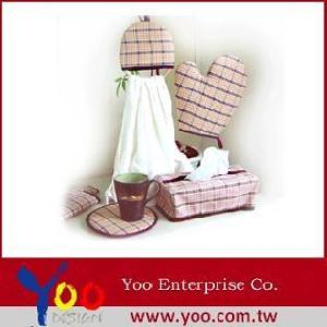 housewares kitchenware oven mitt tissues box towel rack
