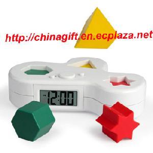 puzzle alarm clock think