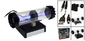 usb blue light speaker