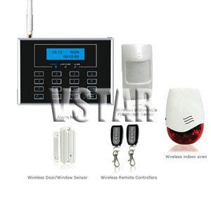 wireless gsm burglar alarm system touch screen keypad