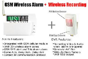 wireless pir motion activate dvr systems