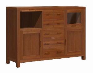 aparador peleva teak mahogany cabinet seven drawers four doors kiln dry wooden indoor furniture