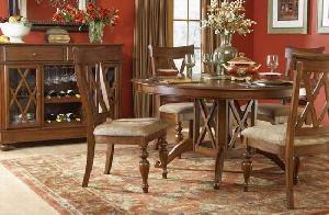 elegance round dining diningroom mahogany teak wooden indoor furniture