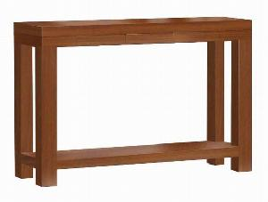 consola console rectangular table teak mahogany wooden indoor furniture solid kiln dry