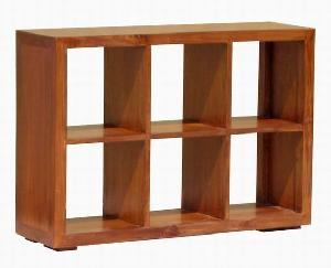mahogany teak devider rack cabinet short 3x2 wooden indoor furniture solid kiln dry
