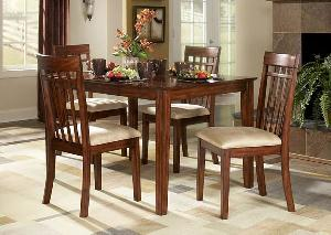 Milan Dining Set Square Table, Seat Cushion Chair Mahogany Teak Wooden  Indoor Furniture Kiln Dry
