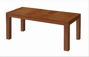 rectangular extension dining table knock teak mahogany wooden indoor furniture
