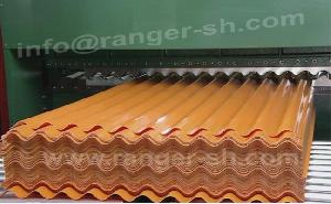 corrugated sheet forming machine wave shape profiles