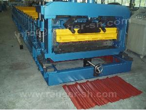 glazed tile roll forming machine metal roofing tiles
