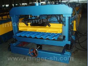 glazed tile roll forming machine metal step roofing