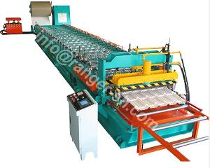 glazed tile roll forming machine step roofing profiles