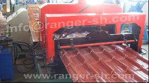 step tile forming machine metal construction