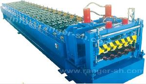 step tile forming machine steel construction