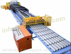 step tile forming machine steel roofing tiles