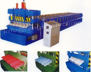 step tile roll forming machine steel glazed roofing