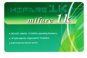 mifare 1k card chip fudan f08