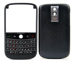 blackberry bold 9000 housing cover keypad matte frame silver leather