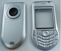 housing faceplate cover nokia 6630 silver