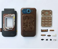 housing faceplate cover nokia 7390 brown