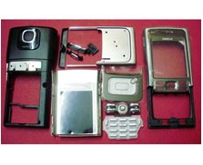 housing faceplate cover nokia n91 silver