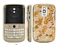 housing cover keypad champagne matte frame gold blackberry bold 9000