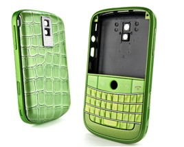 housing cover keypad green frame silver crocodile blackberry bold 9000