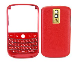 housing cover keypad gold leather blackberry bold 9000