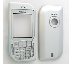 housing faceplate cover nokia 6670 silver