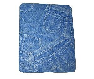 jeans pattern plastic ipad case blue