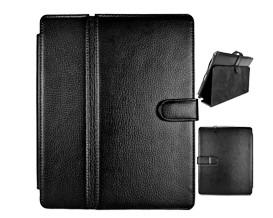 magnetic flip folder carbon fiber leather slim hard case ipad