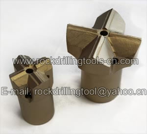 chisel cross button dth conical rock drill mining drifter bits
