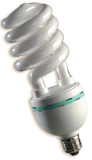 half spiral tri phosphor fluorescent lamp