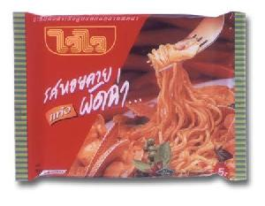 pad char baby clam flavor instant noodle
