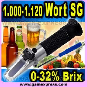 0 32 atc brix beer refractometer sugar wine wort sg