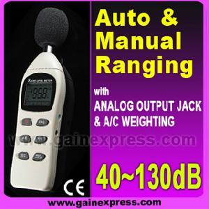 digital decibel sound level meter 40 130db auto manual